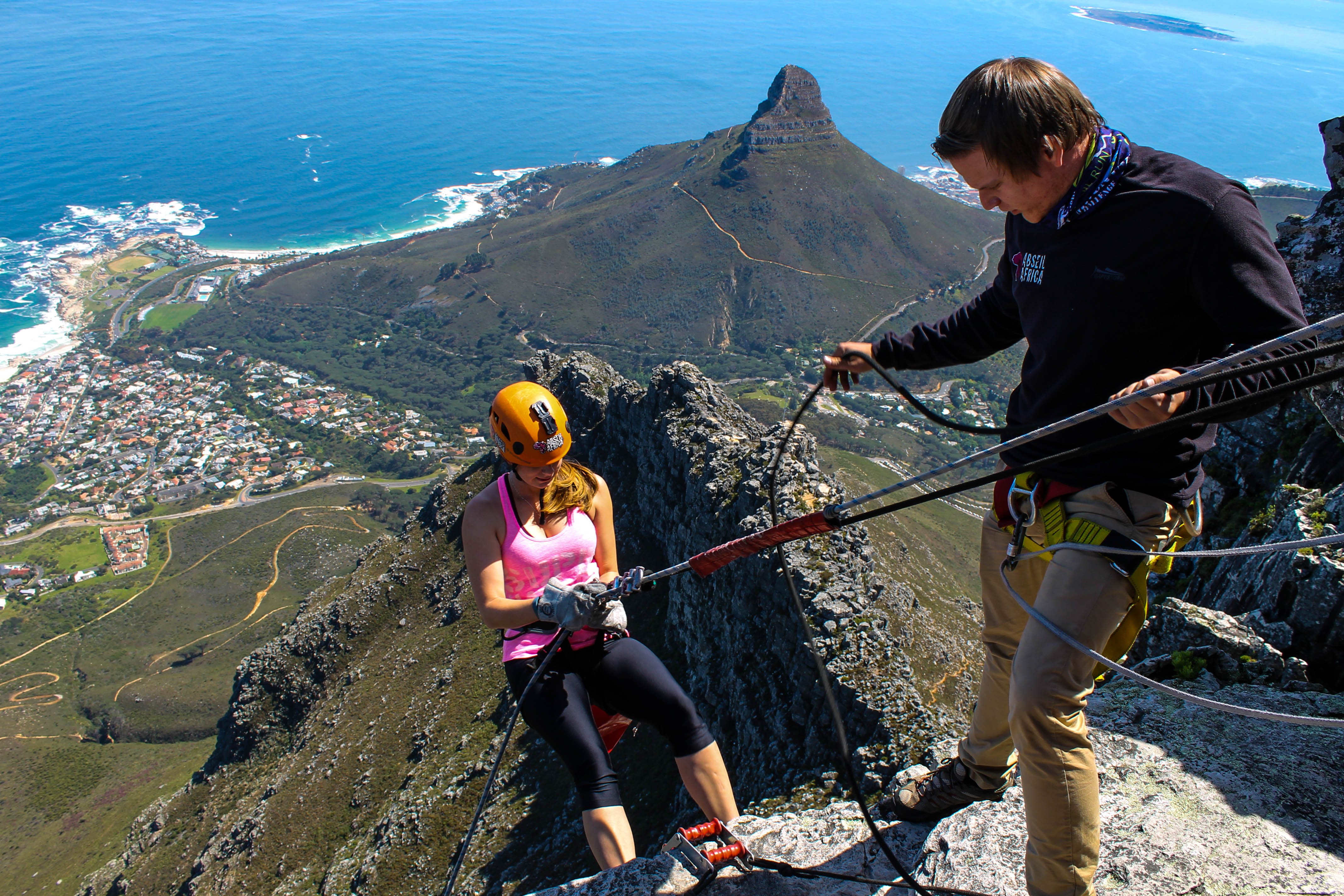 Abseiling Table Mountain Chasing The Wild Goose Top