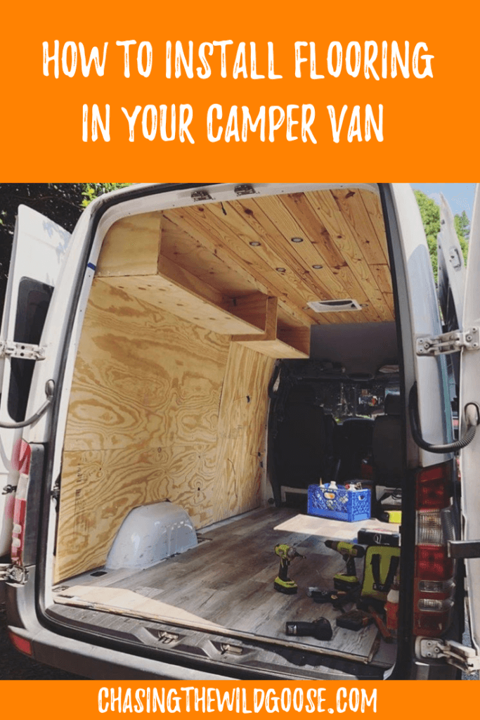 Learn how to install vinyl flooring in your sprinter conversion van. Step by step instructions for putting flooring in your camper van.