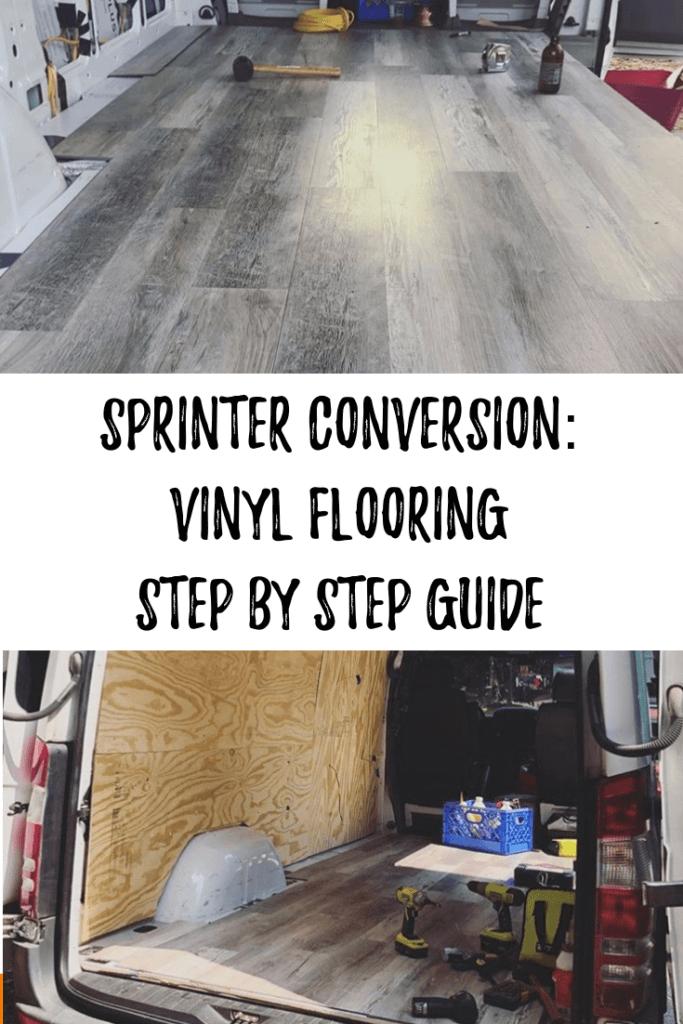 Learn how to install flooring in your sprinter van. Van build instructions for beginners.
