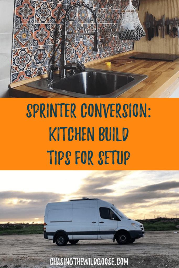 Sprinter conversion van DIY tips for your tiny kitchen.