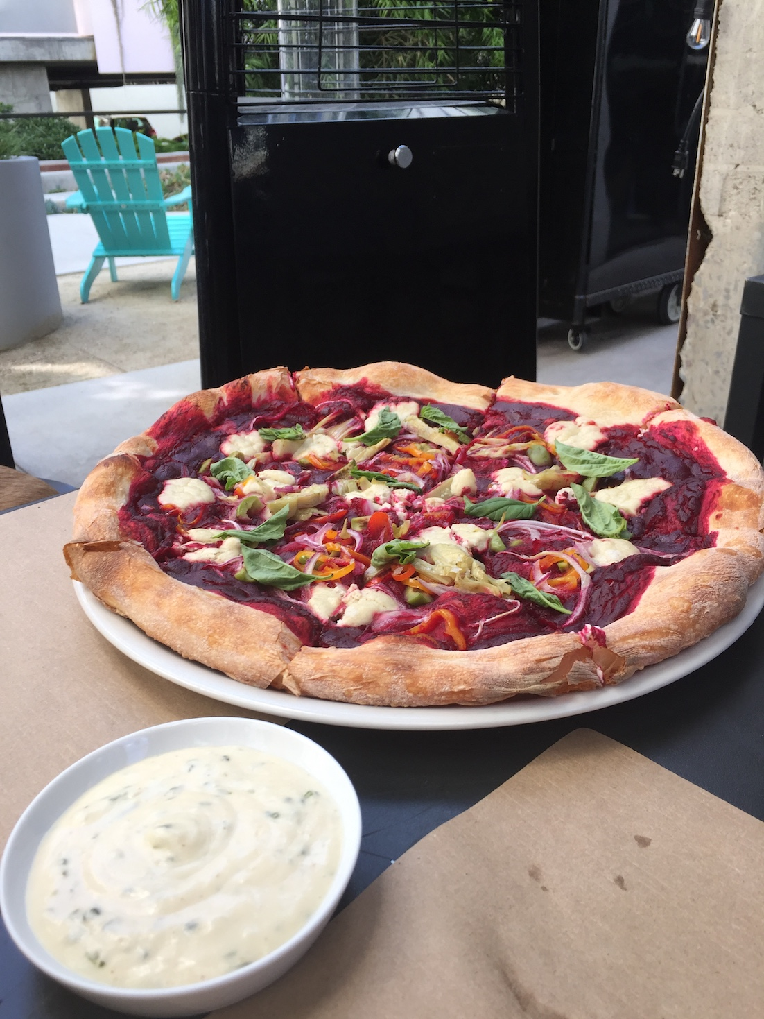 Vegan pizza in San Diego