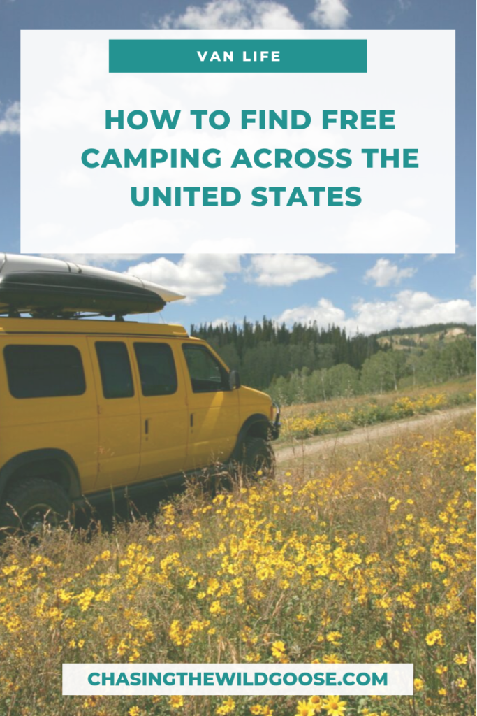 How to find free camping in the united states