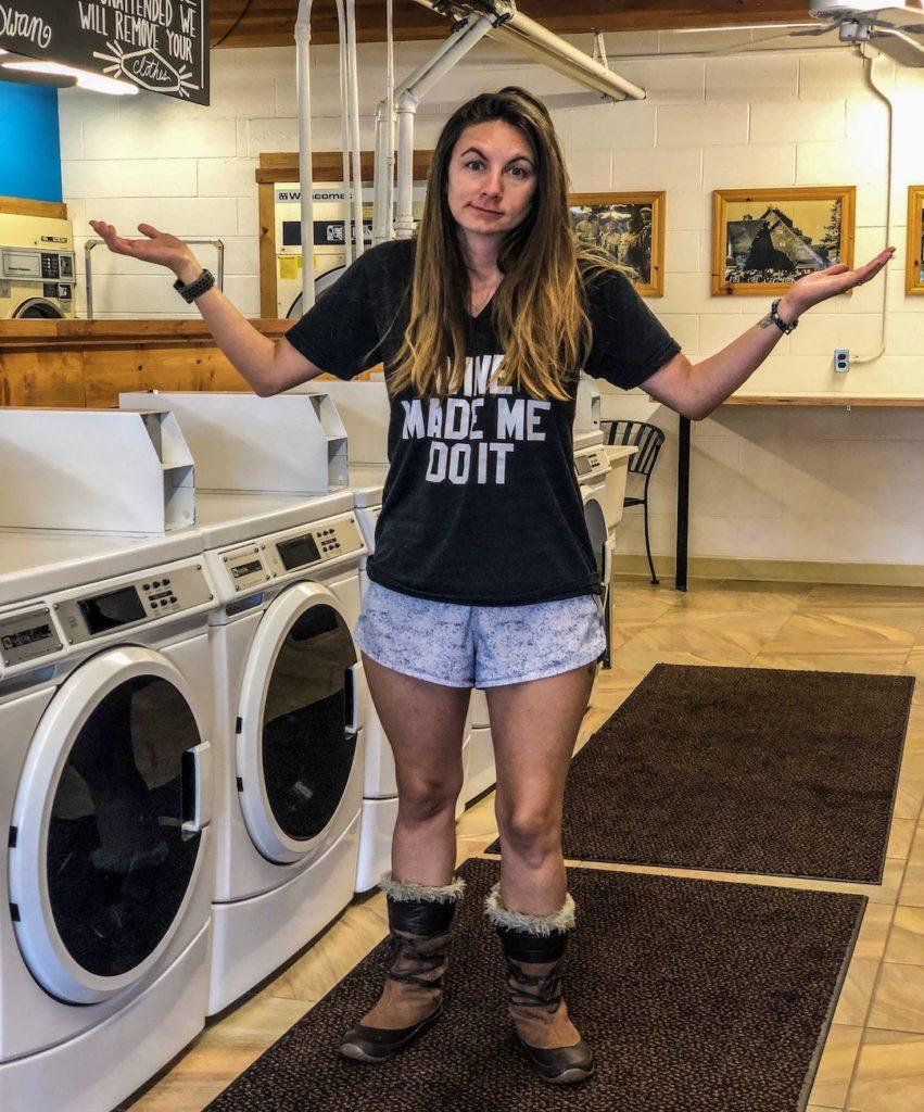 Van life laundry tips