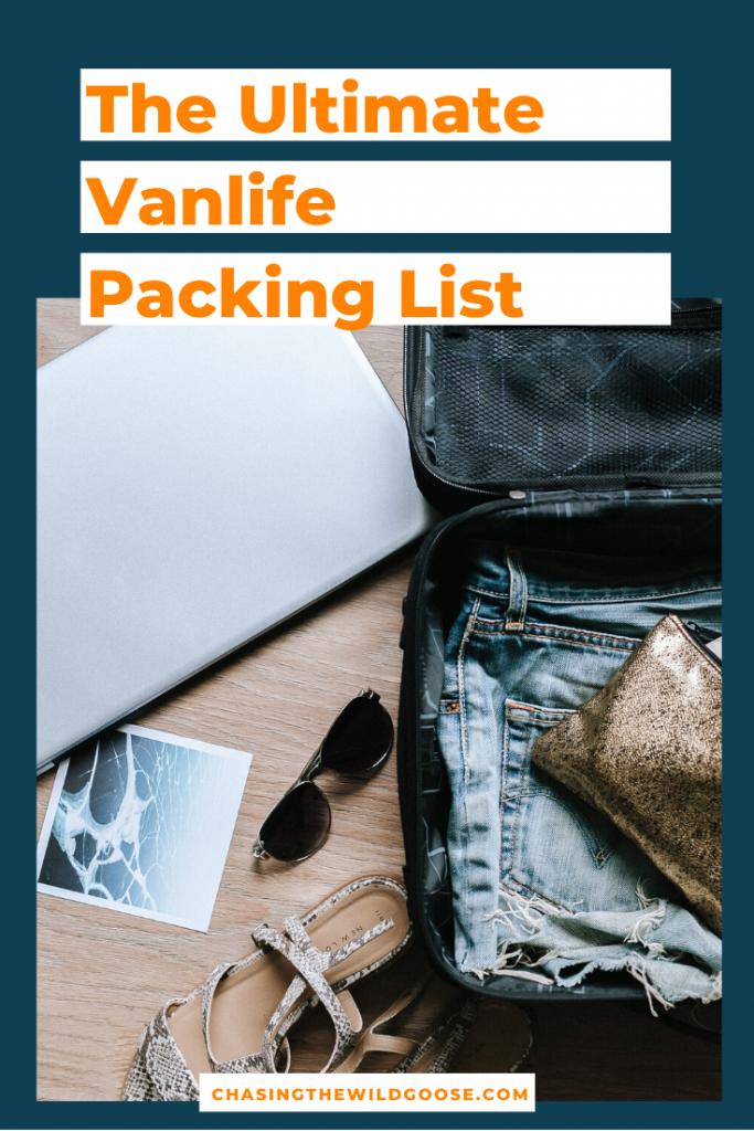 vanlife packing list