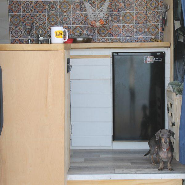 vanlife fridge