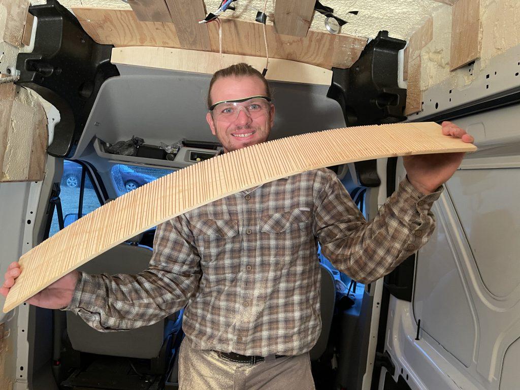 Ford Transit Van Build ceiling