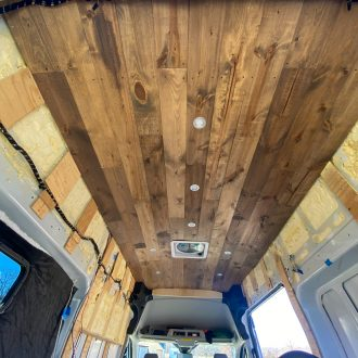 Ford Transit Van Build Ceiling Installation