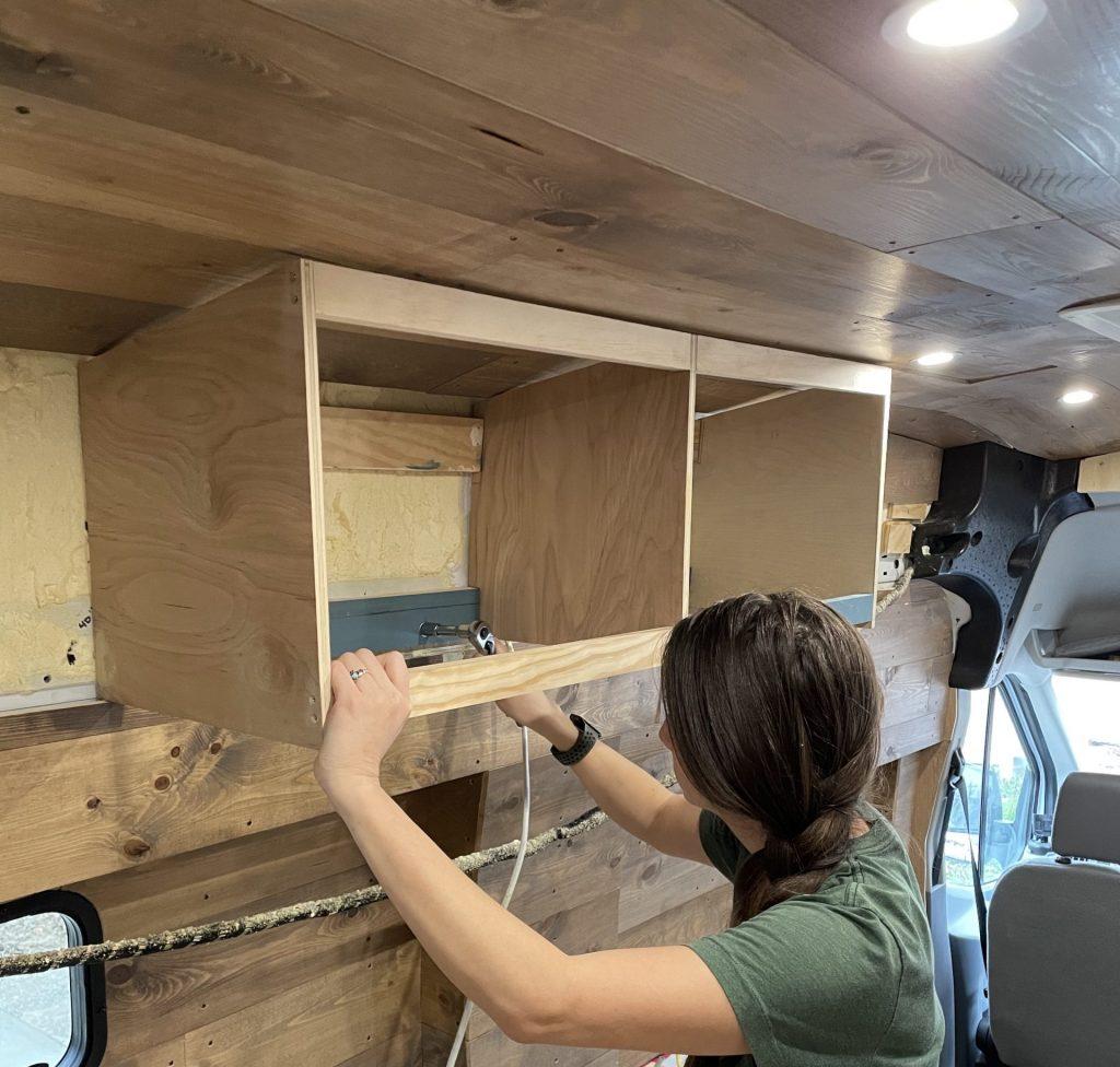 conversion van cabinets